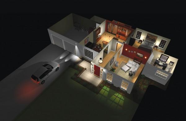 проект освещения жилого здания