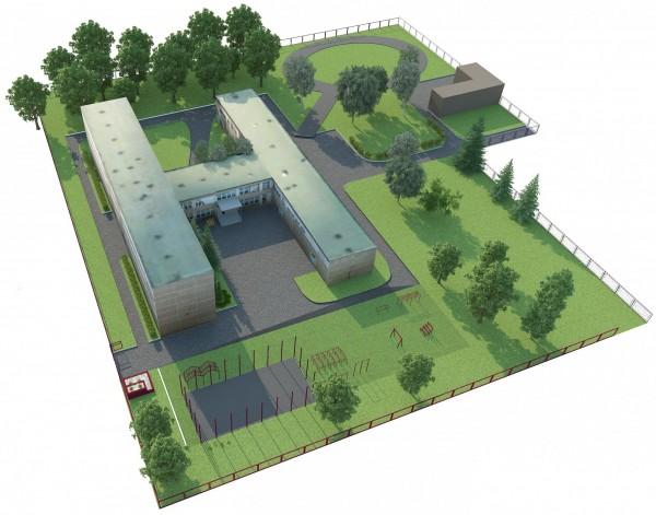 проект школы и прилегающей территории