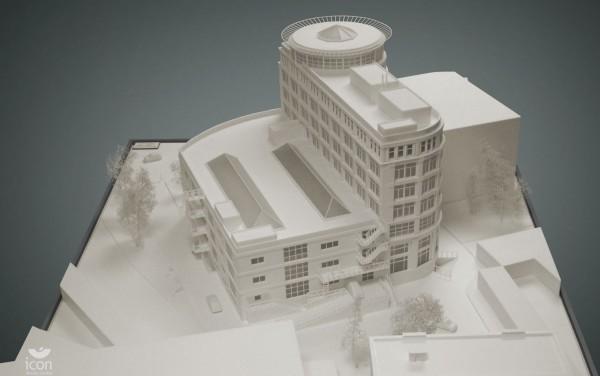 макет медицинского здания